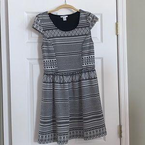 Black and white Bar III dress